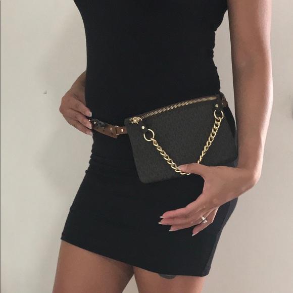 MK Belt Bag Pull Chain LARGE Michael Kors 6fd4f574c7ba0